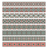 Set of eight ornament decorative elements Stock Photo