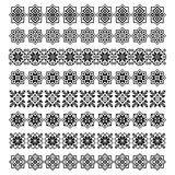 Set of eight ornament decorative elements Stock Photography