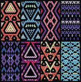 Set of eight patterns. Royalty Free Stock Images