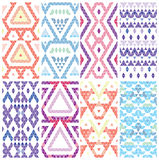 Set of eight patterns. Royalty Free Stock Photos