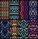 Set of eight patterns. Royalty Free Stock Photography