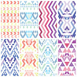 Set of eight patterns. Stock Photography