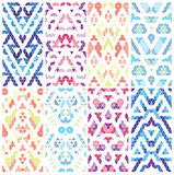 Set of eight patterns. Royalty Free Stock Photo