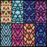 Set of eight patterns. Stock Photos