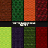 Set of eight seamless floral patterns. Background vector illustration Stock Image