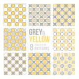 Set of eight seamless patterns royalty free illustration