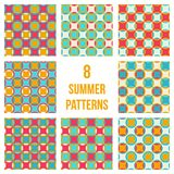 Set of eight seamless patterns Royalty Free Stock Photo