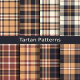 Set of eight seamless vector tartan square patterns. design for textile, covers, packaging, christmas Stock Photo