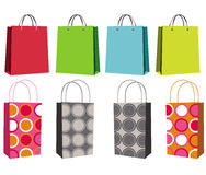 Set of eight shopping bags Stock Image