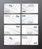 Set of eight visit cards Stock Photography