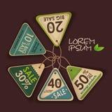 Set ekologii etykietki Obrazy Royalty Free