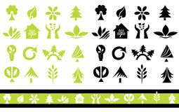 Set 32 ekologii ikony royalty ilustracja