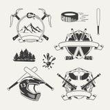 Set ekstremum bawi się emblematy, odznaki, etykietki Fotografia Royalty Free