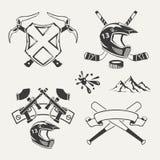 Set ekstremum bawi się emblematy, odznaki, etykietki Obrazy Royalty Free