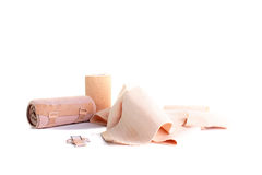 Set of elastic bandage Stock Image