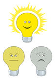 Set of electric bulbs Royalty Free Stock Photography