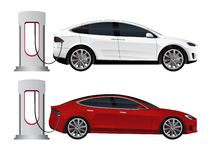 Set of electric cars royalty free stock photography