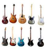 Set of electric guitars Royalty Free Stock Photography