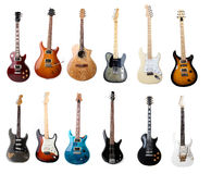 Set of electric guitars Royalty Free Stock Image