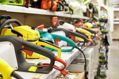 A set of electric tools. stock photography