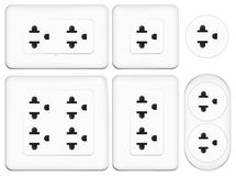 Set of electrical outlet Stock Photos