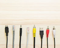 Set of electrical plugs  USB,  Sound and other Stock Image