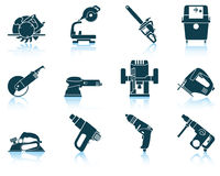 Set of electrical work tool icon Stock Photo