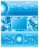 Set of electricity blue Background Stock Photos