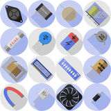 Set electronic component Stock Photo