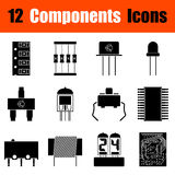 Set of electronic components icons Royalty Free Stock Photography