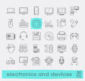 Set of electronic device icons. Royalty Free Stock Image