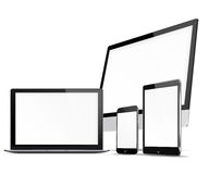 Set of electronic devices. Stock Photos