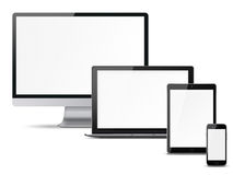 Set of electronic devices. Royalty Free Stock Photo