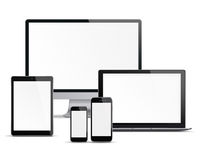 Set of electronic devices. Royalty Free Stock Photos