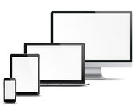 Set of electronic devices. Stock Photo