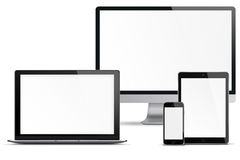 Set of electronic devices. Royalty Free Stock Images