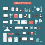 Set of electronic devices and home appliances Stock Image