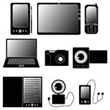 Set of electronic devices icons Royalty Free Stock Photo