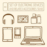 Set of electronic devices Stock Photos