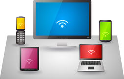 Set of electronic devices Royalty Free Stock Photo