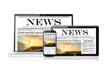 Set of electronic devices Royalty Free Stock Photography