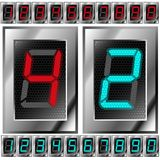 Set of electronic digits Royalty Free Stock Image