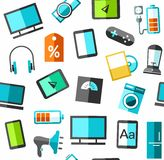 Set of electronic gadgets Royalty Free Stock Photo