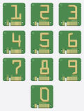 Set of Electronic Number, Circuit, Digital, Vector Royalty Free Stock Photos
