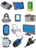 Set of electronics Stock Photos