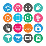 Set of Electronics, Home appliances and Devices. Stock Images