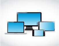 Set of electronics. illustration design Stock Image