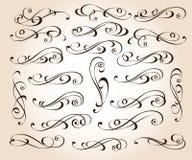 Set eleganccy dekoracyjni ślimacznica elementy również zwrócić corel ilustracji wektora ilustracja wektor