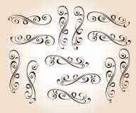 Set eleganccy dekoracyjni ślimacznica elementy również zwrócić corel ilustracji wektora royalty ilustracja