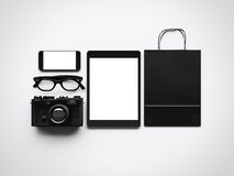 Set eleganccy elementy na białym tle Obraz Stock